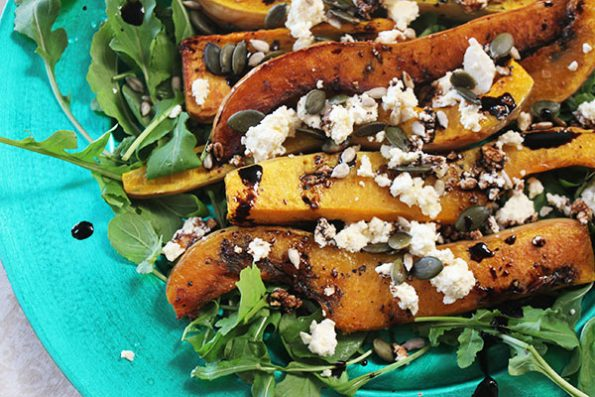Butternut Rocket And Feta Salad With Balsamic Glaze Aninas Recipes