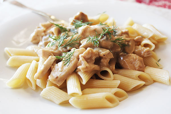 Penne Alfredo With Chicken Amp Mushrooms Aninas Recipes
