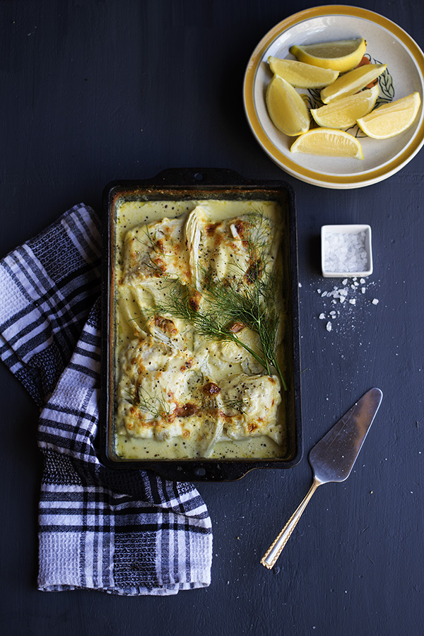 Creamy Fish and Fennel Bake - aninas recipes
