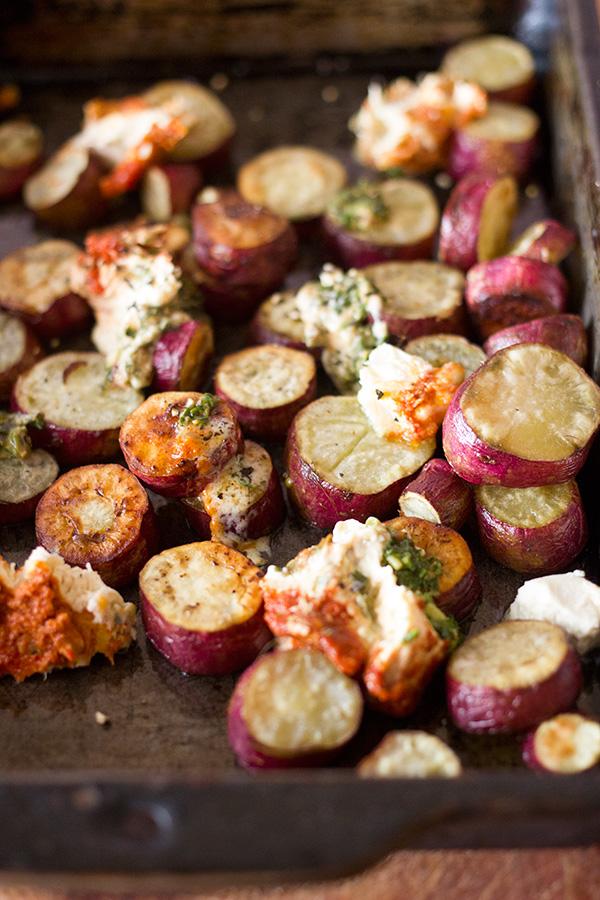 Layered Pesto Potatoes With Sun-Dried Tomatoes Recipe ...