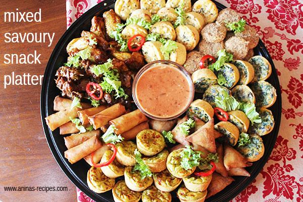 Mixed Savoury Snack Platter - aninas recipes