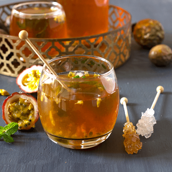 Rooibos, Passion Fruit and Mint Ice Tea