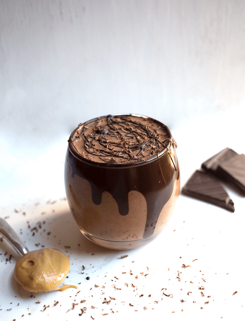 Vegan Peanut Butter and Chocolate Bomb Smoothie